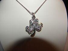 St.Patricks Day Wear All Year Shamrock Austrian Crystal Pendant Necklace
