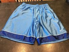 Men's Nike Light Blue Long Basketball Athletic Shorts Size XL
