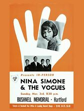 "Nina Simone Hartford 16"" x 12"" Photo Repro Concert Poster"