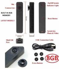 New Mini Video Recorder Button Camera HD 8GB Portable DVR Camcorder ULTRA SLIM
