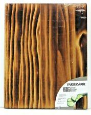 Farberware Burnt Wood Cutting Board, Natural Reversible Will not Dull Knives NEW