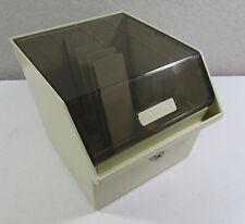Vintage Memorex Floppy Disc Diskette Storage Case with Dividers