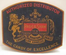 Old Advertising Candy Sign - Page & Shaw Authorized Distributor - Lion & Knight