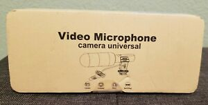 Shotgun Stereo Video 3.5mm Microphone Mic For DSLR Camera DV Video Camcorder