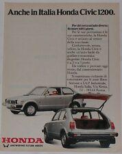 Advert Pubblicità 1979 HONDA CIVIC 1200