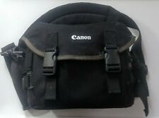Canon DSLR SLR Camera Gadget Bag Case Shoulder Neck Strap Multiple Compartments