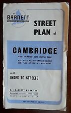 Vintage Street Plan of Cambridge, from the 1960s by Barnett Publishers & Cartogr