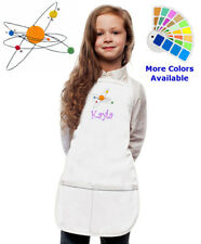Personalized Kids Apron with Solar System Planets Embroidery Design