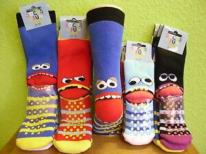 3 Paar Kinder ABS Socken Stopper Fliesenflitzer Freche Bande Größe 19 - 38 neu