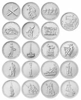 """UNC * Russia, 5 rubles 2014 """"70 years of Victory 1941-1945"""" 18 coins."""