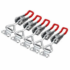 5PC Adjustable Toggle Clamp Pull Action Latch Hand 100KG/220lbs Holding Cap B1J2