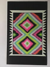 Navajo Op Blacklight Poster Pin-up Print House Of Stone Double Sided Prints UV