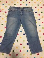 Free People Light Wash Capri Boyfriend Denim Jeans Size 29