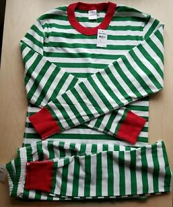 NWT Hanna Andersson VERY MERRY GREEN CHRISTMAS ADULT Pajamas UNISEX MEDIUM M