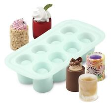 Wilton Silicone Round Shot Glass Treat Mold 8 Cavity