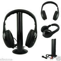 5IN1 Wireless Headphone Casque Audio  Hi-Fi Radio FM TV MP3 MP4 Headset NEW