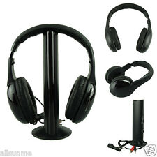 5IN1 Wireless Headphone Casque Audio  Hi-Fi Radio FM TV MP3 MP4 Headset NEW