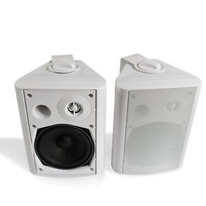 """Herdio 5.25"""" Indoor/Outdoor Patio Garden Speakers All Weather Wall Mount System"""