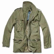Parka Brandit Homme M65 Standard Veste Militaire Jacket avec Capuche Cachée Vert