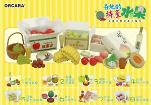 Orcara Dollhouse Speciality Fruits Miniature Set re-ment size RARE Full set of 8