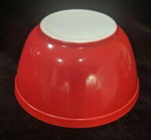 RARE EARLY MARK B-44 Pyrex Deep Tomato Red 402 1 1/2 QT Nesting Mixing Bowl