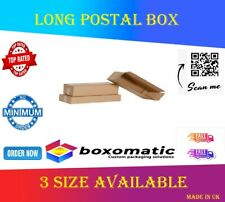 More details for long white postal boxes strong die cut cardboard posting