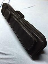J&J Black Angora Soft Sided 4 Butt 8 Shaft Cue Case 4x8 Butterfly Style