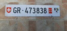 Schwitzerland license plate
