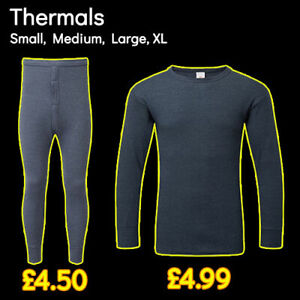 Fort Workwear BARGAIN Thermal Long Johns Thermal Long Sleeve Vests ~DENIM~