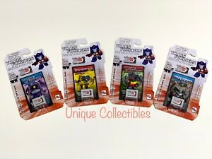 Transformers Figurine & 3D Puzzle Piece Collector Card Mini Set of 4 BRAND NEW