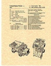 Patent Print - Transformers Wideload Toy - Set of 5 Prints - Ready To Be Framed!