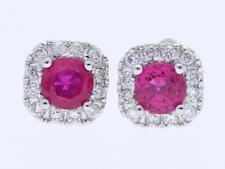 IGI Expertisen Ohrringe Ohrstecker Brillanten pink Saphire 750 Gold neu