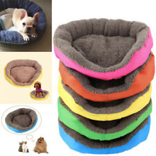 Pet Dog Cat Kennel Calming Sleeping Bed Round Nest Warm Soft Plush Comfort