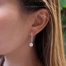 Long Drop 925 Sterling Silver Cubic Zirconia Long Chain Dangle Earrings Women