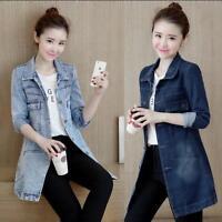 Women Outwear Denim Jacket Slim Long Sleeve Holes Jeans Casual  Lady Coat @CHIC3