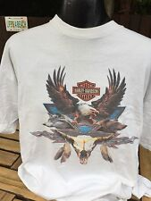 VINTAGE HARLEY DAVIDSON T-shirt taglia XXL Big Rock NOTTINGHAM Inghilterra buone cond