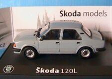 SKODA 120L GRIS BLEU 1986 ABREX 1/43 GRAU PRAHA TCHEQUIE MODELCAR DIE CAST