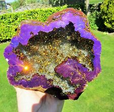 Rainbow Aura Quartz Geode Violet Flame Crystal Gift 1.444g X Large AAA+ Quality