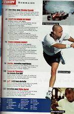 L'EQUIPE MAGAZINE N° 914 1999 rugby  tennis bercy agassi anelka didier auriol