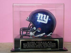 Mark Ingram Football Mini Helmet Case W/ A Baltimore Ravens Engraved Nameplate