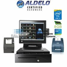 ALDELO PRO DELI RESTAURANT ALL-IN-ONE COMPLETE POS SYSTEM BUNDLE NEW I5/8GB RAM
