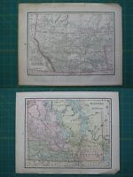 Rusia suecia noruega vintage original 1897 crams world atlas mapa nw territories manitoba vintage original 1897 crams world atlas map lot gumiabroncs Gallery