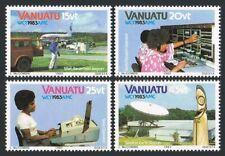 Vanuatu 360-363,363a,MNH.Michel 666-669,Bl.5. WCY-1983.Mail Transport,Telex,