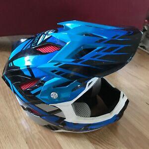 Blue Fly Racing Formula Moto Cross Helmet Size YS
