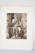 MOISE Sculpture Michel-Ange Renaissance Saint Pierre aux Liens Rome Héliogravure