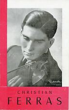 Christian Ferras (Violin): 1950 Promotional Brochure