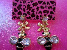 Betsey Johnson Bumble Bee Dangle Earrings