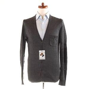 DRYKORN for Beautiful People Strickjacke Cardigan 100% Leinen Sweater Gr M Stahl