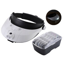 1.0X-3.5X LED Illuminated Helmet Head Magnifier Headband Surgical Dental Loupe