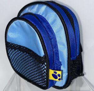 "4"" BAB Build a Bear Workshop BABW Blue backpack Plush Mini Adjustable Straps"